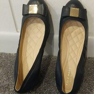 Cole Haan Navy Blue Wedge Heel 8 1/2